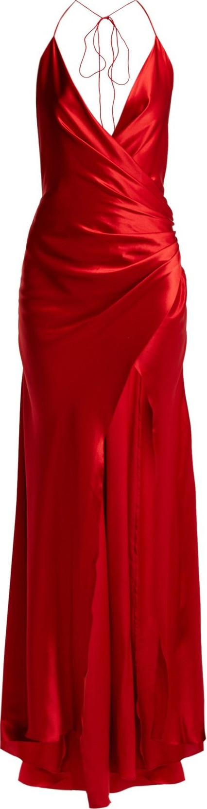 Adriana Iglesias Scarface draped silk-blend gown