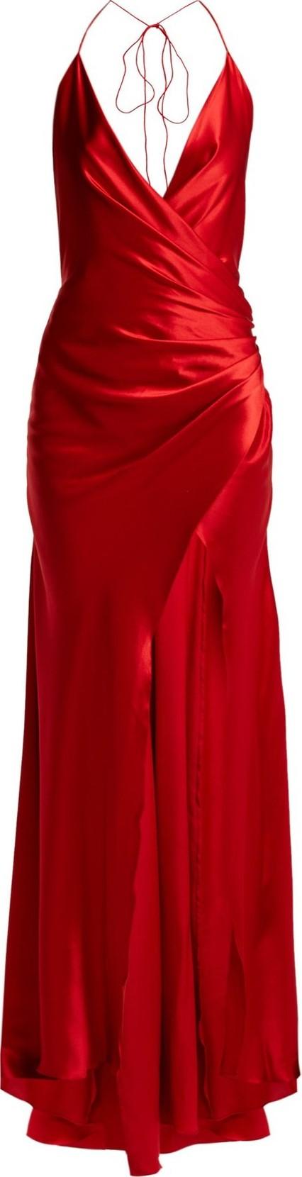 Adriana Iglesias Scarface draped silk-blend gown