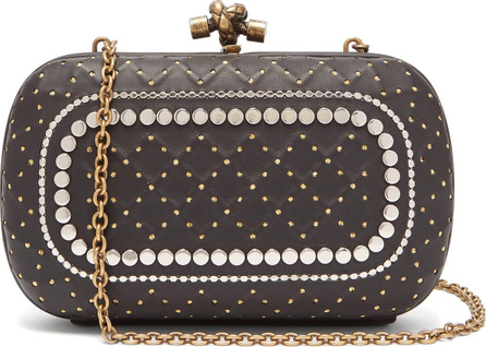 Bottega Veneta Knot studded leather clutch bag