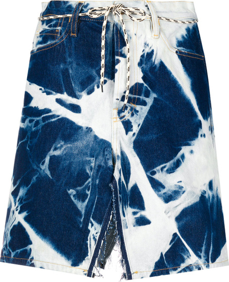Aries Bleach effect denim skirt