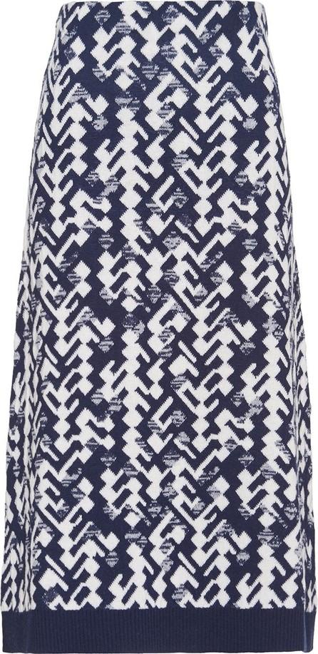 Prada Jacquard geometric knitted skirt