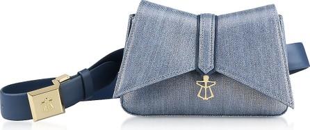 Lara Bellini Denim Blue Kiki Micro Belt Bag