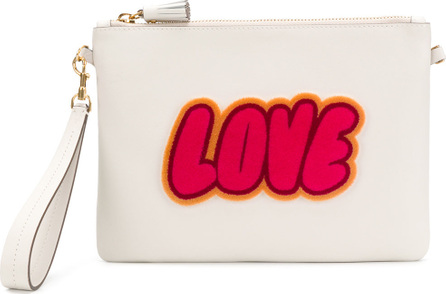 Anya Hindmarch Love print satchel bag