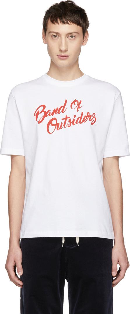 Band of Outsiders White Logo Alpine Band T-Shirt