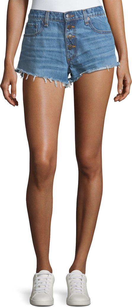 Veronica Beard Debbie Denim Shorts w/ Frayed Hem