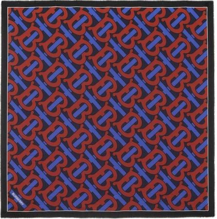 Burberry London England Monogram cotton and silk scarf