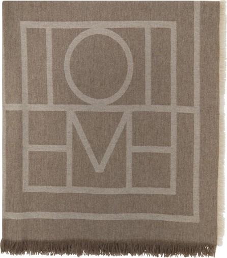 Totême Brown Wool Como Scarf