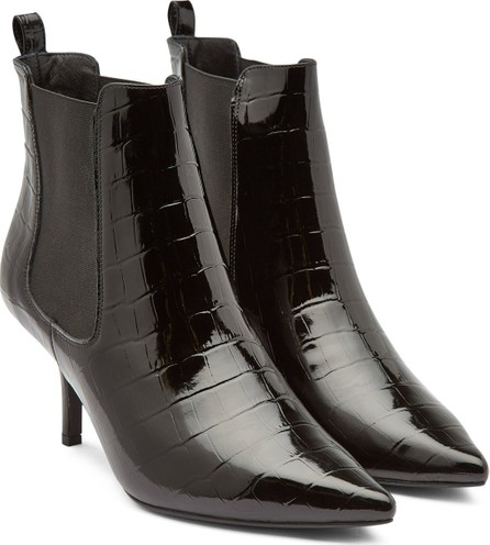 ANINE BING Stevie Patent Leather Ankle Boots