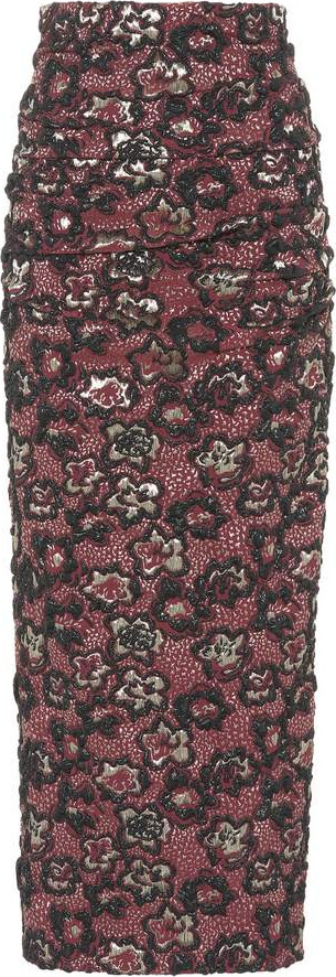 Miu Miu Brocade pencil skirt