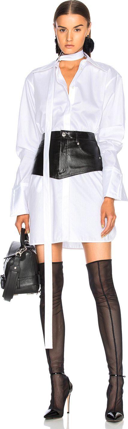Helmut Lang Oversized Shirt Dress