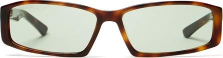 Balenciaga Tortoiseshell rectangle-frame acetate sunglasses