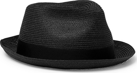 Borsalino Traveller Grosgrain-Trimmed Hemp Panama Hat