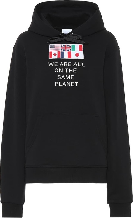 Burberry London England Appliquéd cotton-jersey hoodie