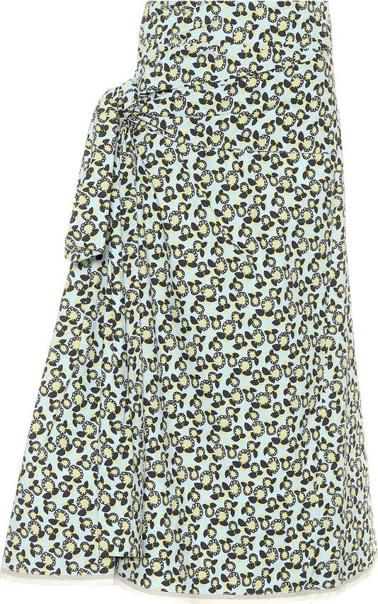 marni printed cotton and linen midi skirt mkt
