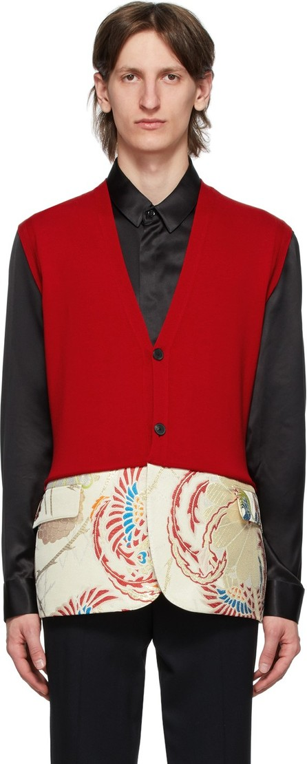 Haider Ackermann Red Sleeveless Cardigan