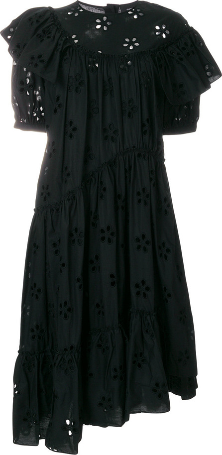 Simone Rocha Broiderie anglaise asymmetric hem dress