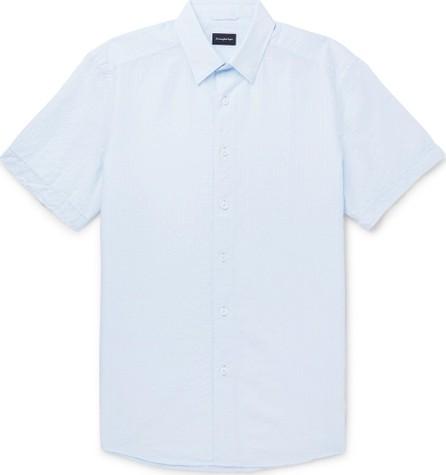 Ermenegildo Zegna Cotton and Linen-Blend Seersucker Shirt
