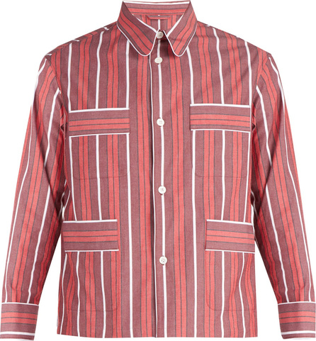 Connolly Striped cotton-blend shirt