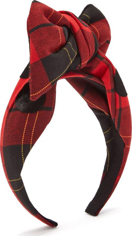 Benoît Missolin Tartan dot knotted headband