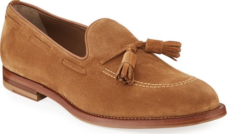 Brunello Cucinelli Men's Tassel Suede Loafers
