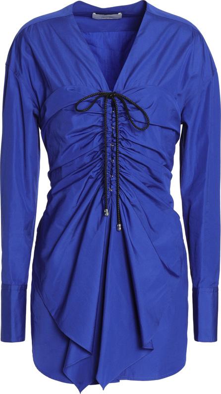 3.1 Phillip Lim Tie-front ruched cotton-poplin shirt
