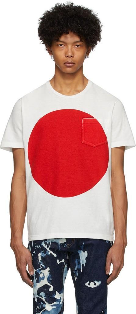 Blue Blue Japan White Big Circle T-Shirt