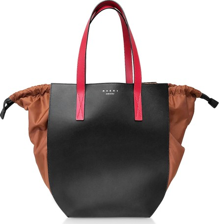Marni Color Block Leather Tote Bag