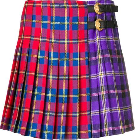 Versace Two-tone tartan skirt