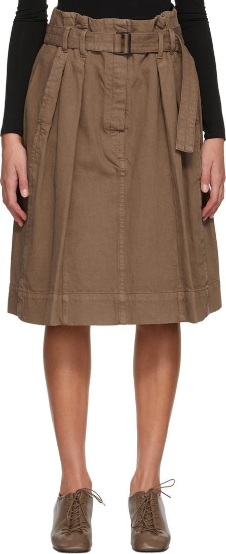 Lemaire Brown Denim Bell Skirt
