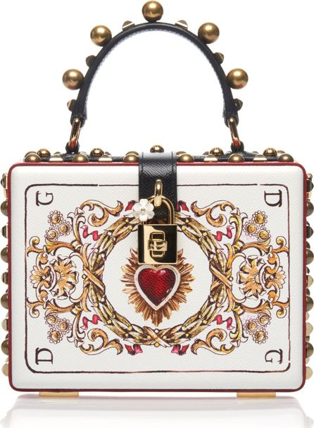 Dolce & Gabbana Embellished Leather Box Bag
