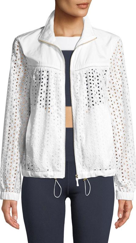 Kate Spade New York zip-front eyelet anorak jacket