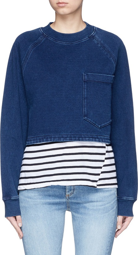 AG Jeans 'Cubo' cropped cotton sweatshirt