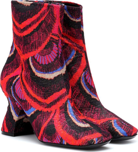 Dries Van Noten Jacquard ankle boots