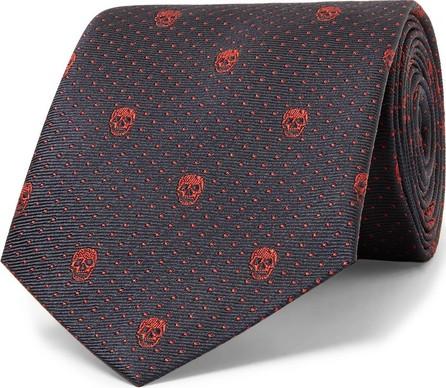 Alexander McQueen 8cm Skull And Polka-Dot Silk-Jacquard Tie
