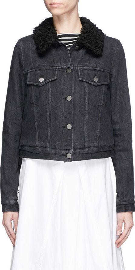 3.1 Phillip Lim Faux fur sherpa collar cropped denim jacket
