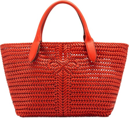 Anya Hindmarch The Neeson Woven Tote Bag  Red