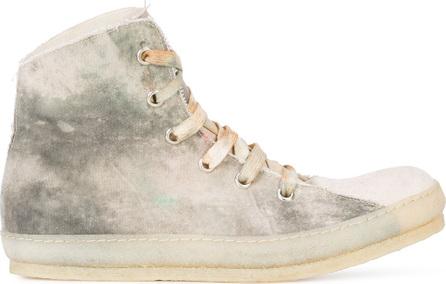 A Diciannoveventitre Dye finish hi-top sneakers