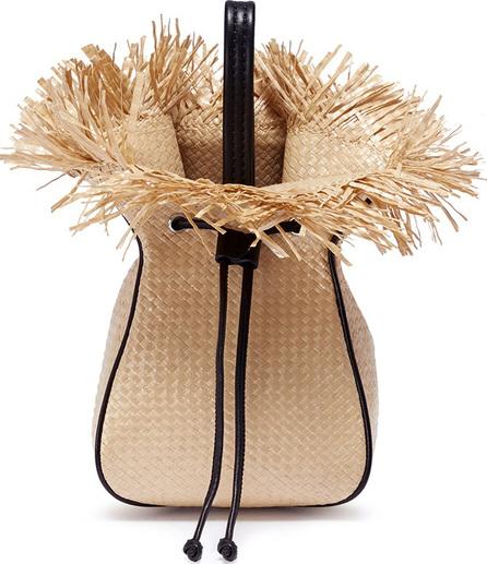 3.1 Phillip Lim 'Ray' mini straw basketweave glove pouch