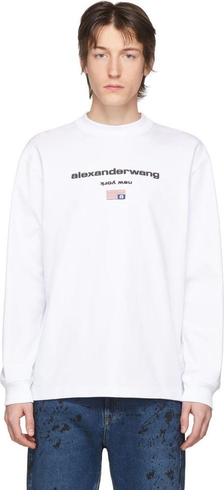Alexander Wang White Graphic Logo Long Sleeve T-Shirt