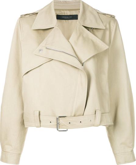 Federica Tosi Oversized biker jacket