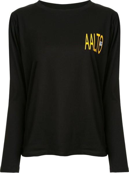 Aalto Pleated logo T-shirt