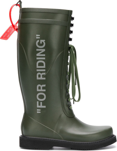 Off White For Riding wellington boots