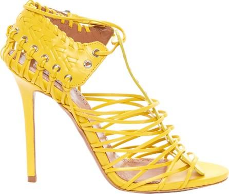 Azzedine Alaia Braided Leather Heels
