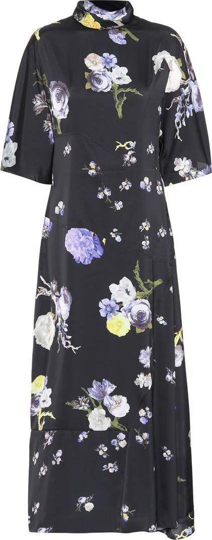 Acne Studios Dilona floral-printed satin dress