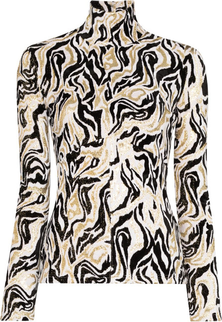 Paco Rabanne Graphic-print turtleneck top