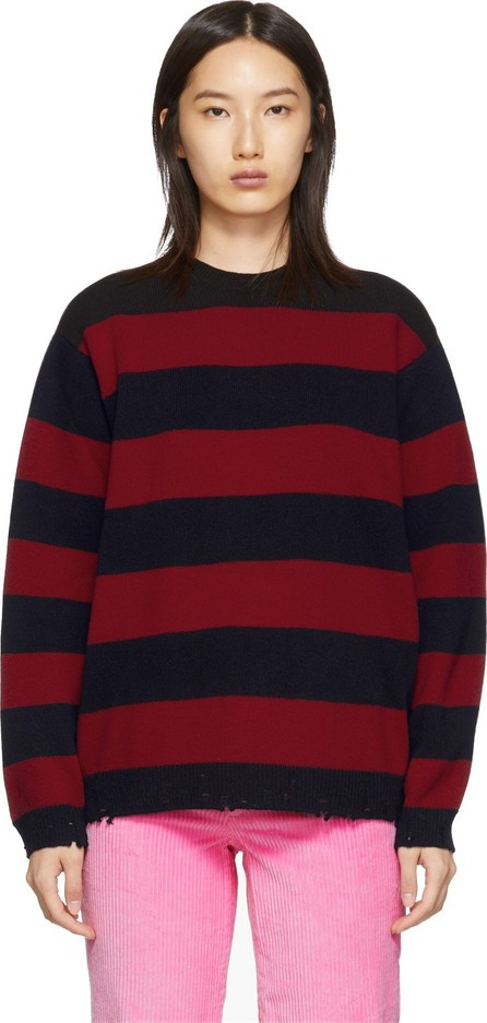 MARC JACOBS Red 'The Grunge' Crewneck Sweater