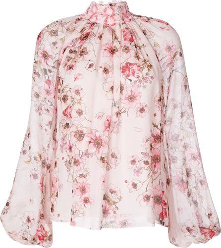 Giambattista Valli high neck floral blouse