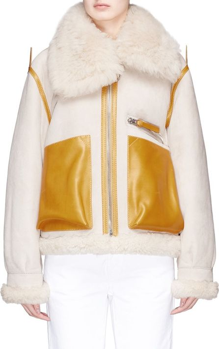 Acne Studios 'Lore' colourblock lambskin shearling jacket