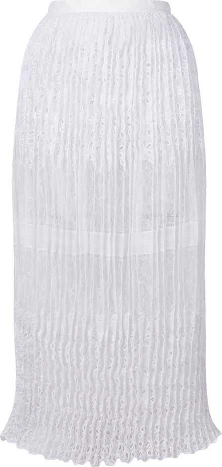Ermanno Scervino Pleated lace overlay skirt