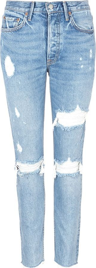 Grlfrnd 'Karolina' cropped ripped jeans